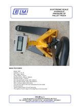 ELECTRONIC SCALE HYDRAULIC PRESSURE OF PALLET TRUCK