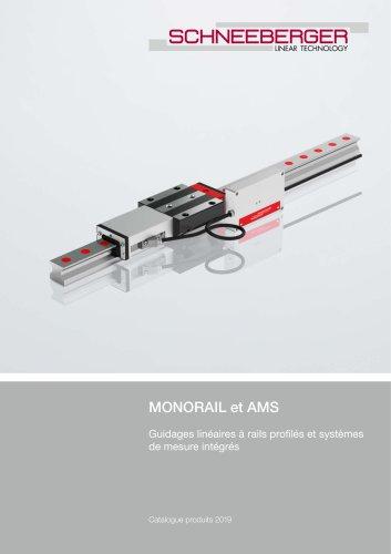 MONORAIL et AMS - Guidages linéaires à rails profilés et systèmes de mesure intégrés