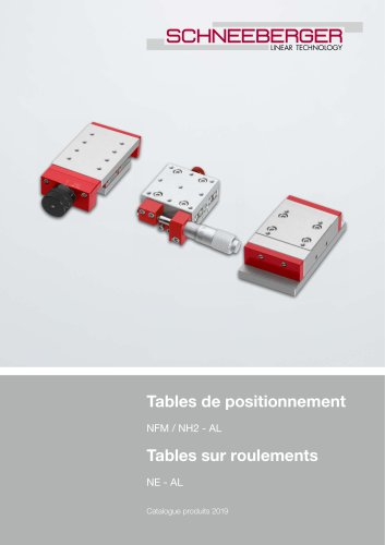 Tables de positionnement / Tables sur roulements