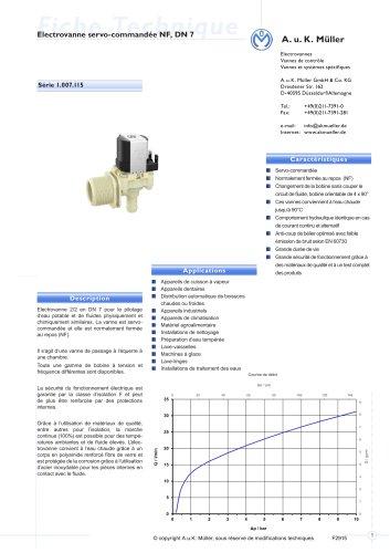 S é r i e   1. 0 0 7.115Electrovanne servo-commandée NF, DN 7