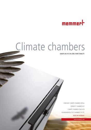 Brochure Climate Chambers
