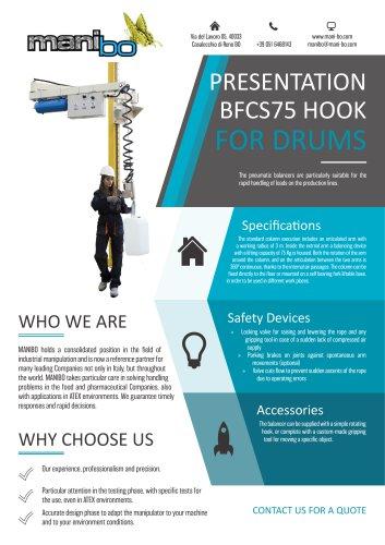 BALANCER BFCS75 - HOOK FOR DRUMS