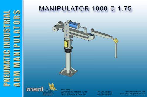 Industrial arm manipulator MANIBO 1000 kg