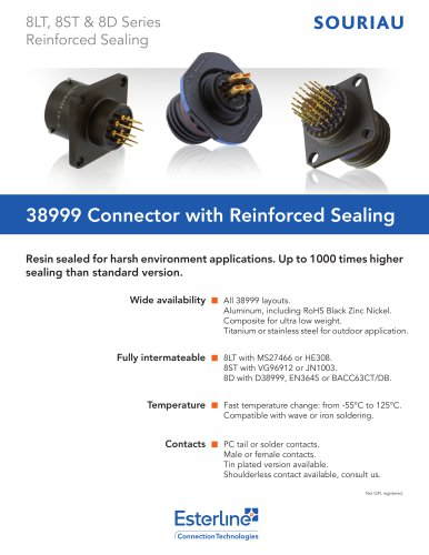 38999 Connector with Reinforced Sealing