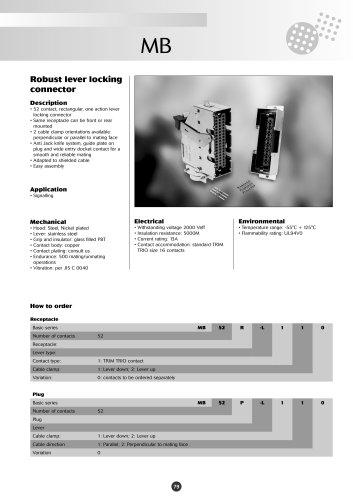 Catalog MB series