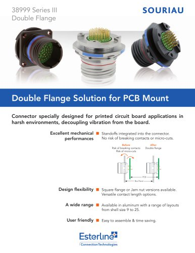 Double Flange Solution for PCB Mount