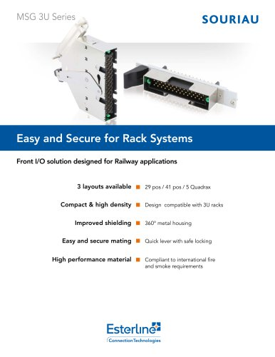 MSG 3U - Easy and Secure for Rack Systems