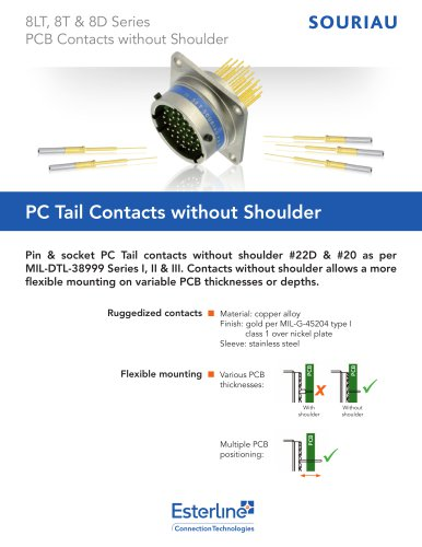 PC Tail Contacts without Shoulder