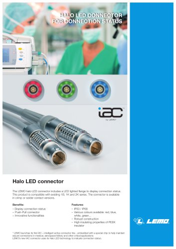 Halo LED connector