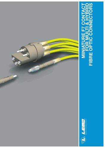 MINIATURE F7 CONTACT FOR MULTI & HYBRID FIBRE OPTIC CONNECTORS