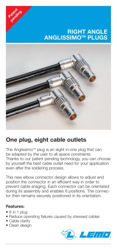 """Right Angle """"ANGLISSIMO"""" Plugs"""
