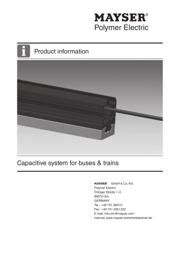Capacitive system for buses & trains