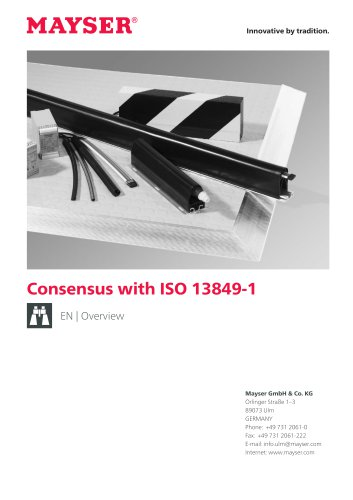 Consensus with ISO 13849-1