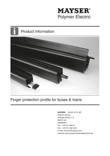 Finger protection profile for buses & trains