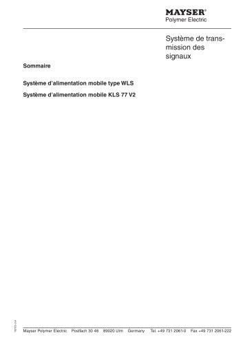 Système de transmission des signaux