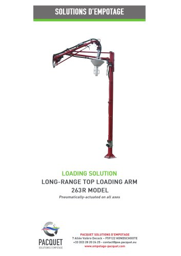 Long range top loading arm 263R model