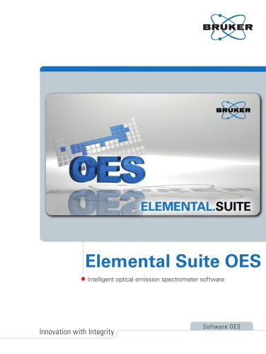 Elemental Suite OES - Intelligent optical emission spectrometer software