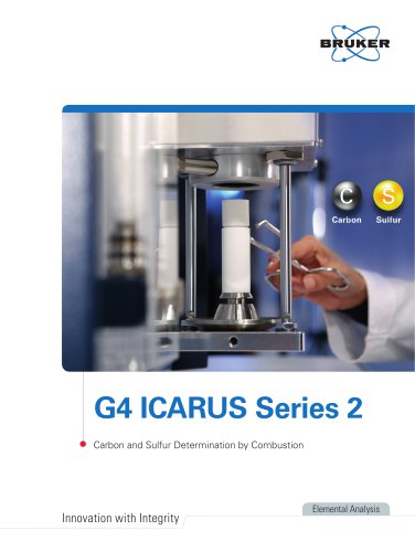 G4 ICARUS Series 2 - Carbon and Sulfur Determination by Combustion