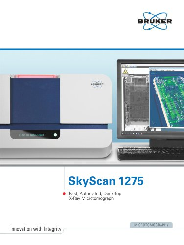 SkyScan 1275 - Fast, Automated, Desk-Top X-Ray Microtomograph