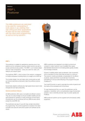 IRBP L Workpiece positioner
