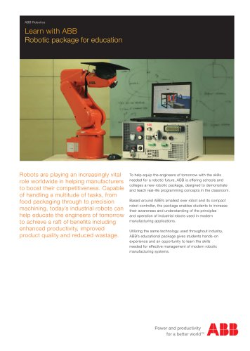 Learn with ABB Robotic package for education