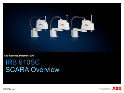 RB 910SC SCARA  Overview
