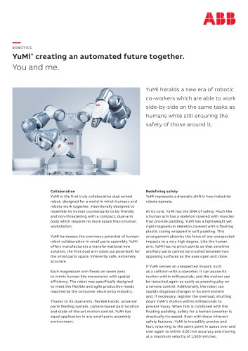 YuMi® creating an automated future together.