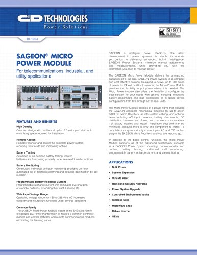 Sageon Micro™ Power Module