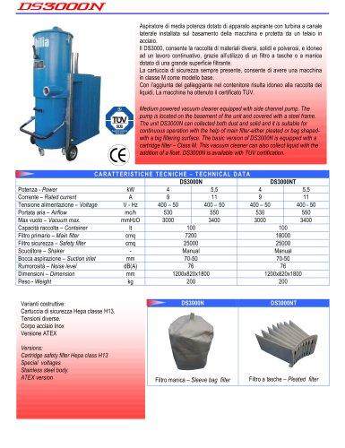 Medium powered industrial vacuum
