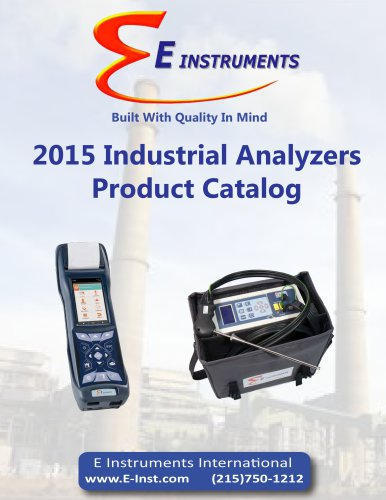 2015 Industrial Analyzers Product Catalog