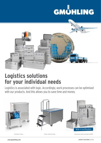 Logistics solutions for your individual needs
