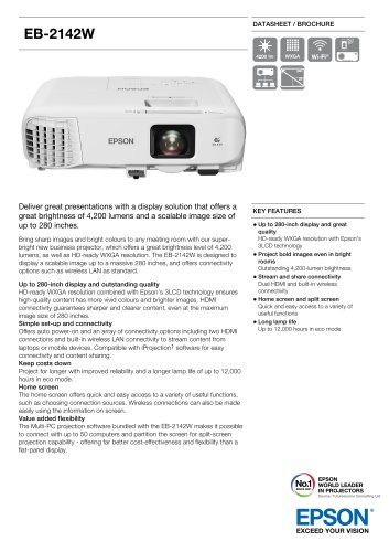 EB-2142W Datasheet / Brochure
