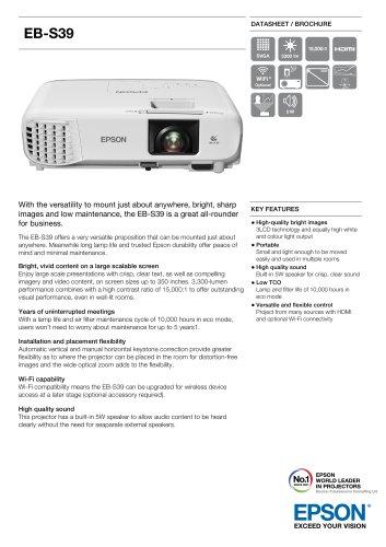 EB-S39 Datasheet / Brochure