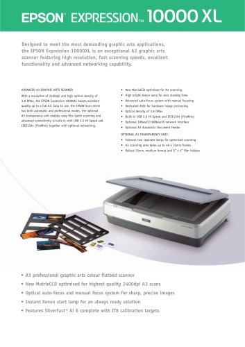 Epson Expression 10000XL A3 graphics scanner