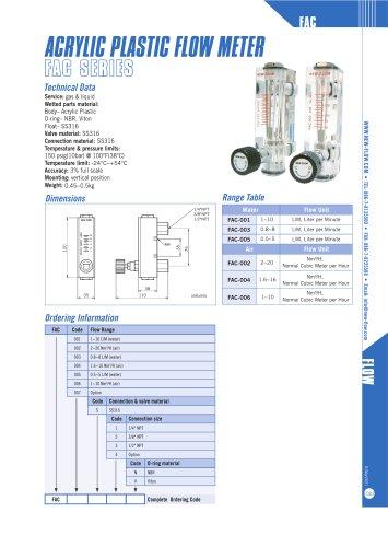 FAC (Acrylic flow meter)