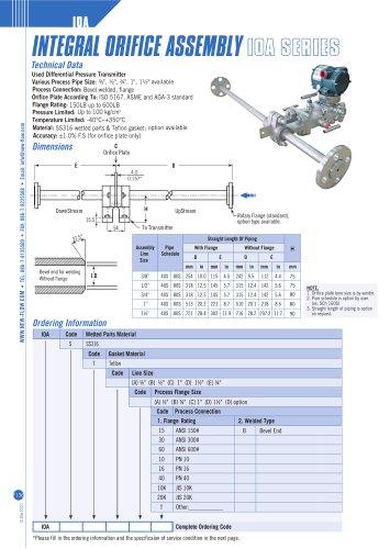 Integral orifice assembly