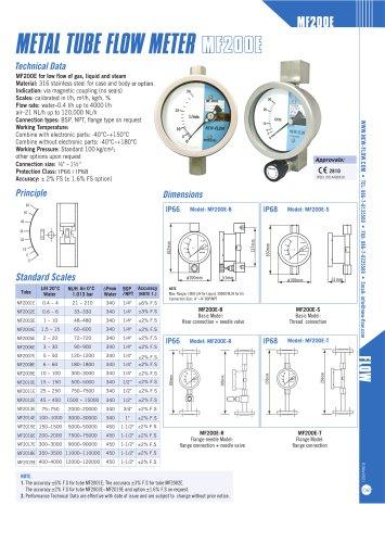 MF200E(Metal tube flow meter)