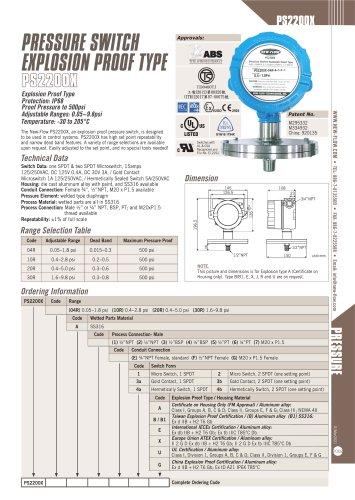 PS2200X(Pressure Switch)