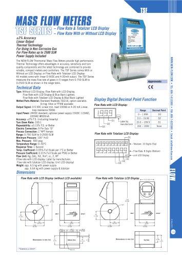 TSF(Thermal mass flow meter)