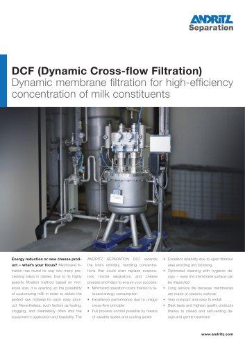 DCF crossflow filter for dairy