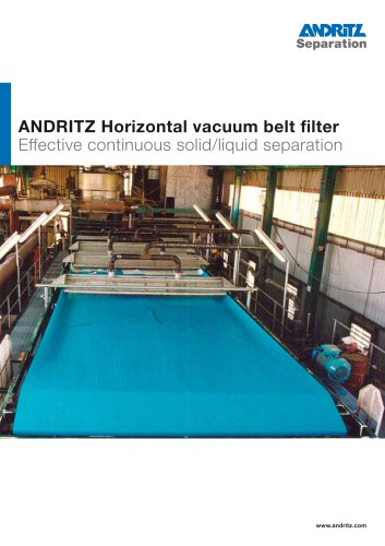 Horizontal vacuum belt filter