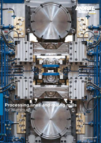 Processing lines and rolling mills for aluminum