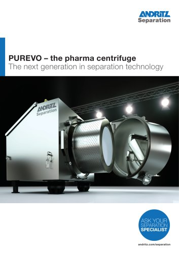 PUREVO - the pharma centrifuge