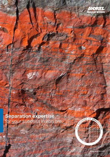 Separation expertise  for your success in iron ore