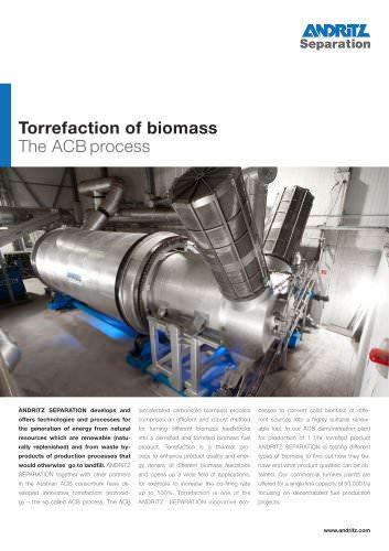 Torrefaction of biomass