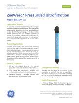 ZeeWeed Pressurized Ultrafiltration -- Model ZW1500-SW