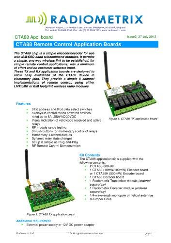 CTA88 Remote Control Application Boards