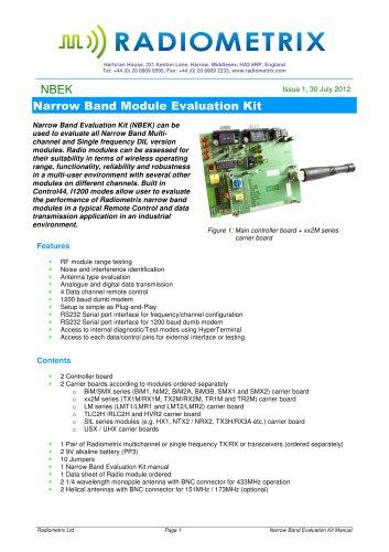 Narrow Band Module Evaluation Kit