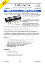 NBEK Controller As 1200 Baud Modem