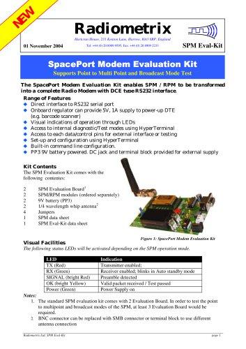 SPM2/RPM Evaluation Kit